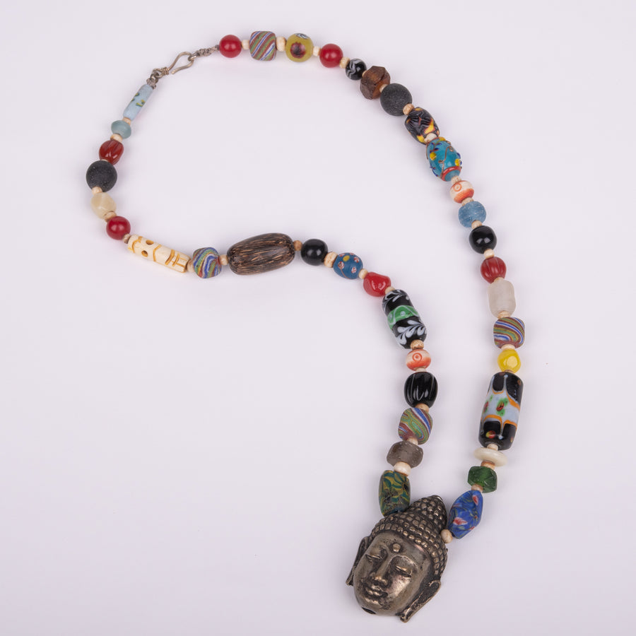 Stunning Necklace with Mixed Beads & Buddha