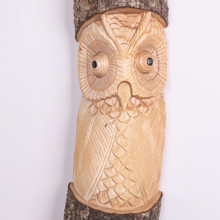 Carved Owl in the Tree Trunk Mask