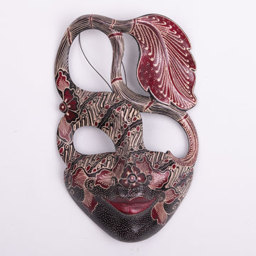Batik Wood Primitive Mask Small