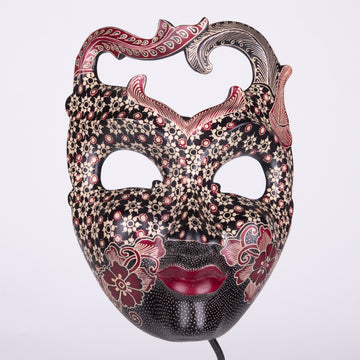 Batik Wood Primitive Mask Medium