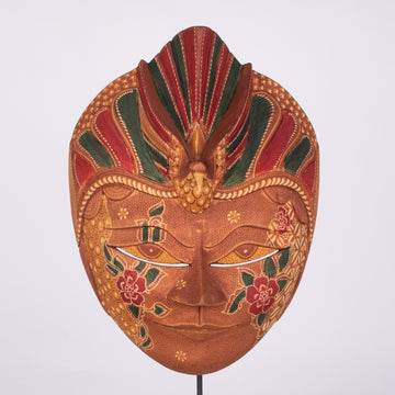 Batik Wooden Mask Extra Large Carved