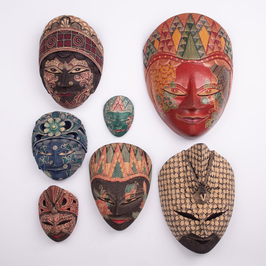 Batik Masks mixed sizes