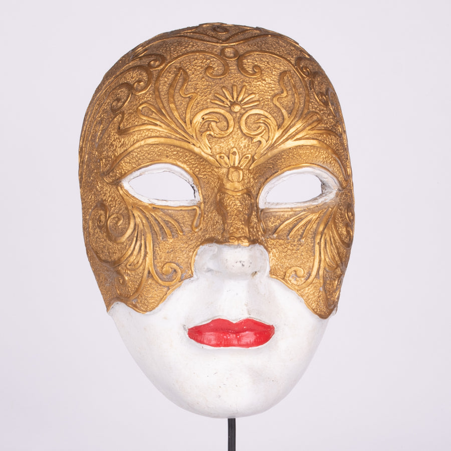 Golden Masked White Wooden Mask