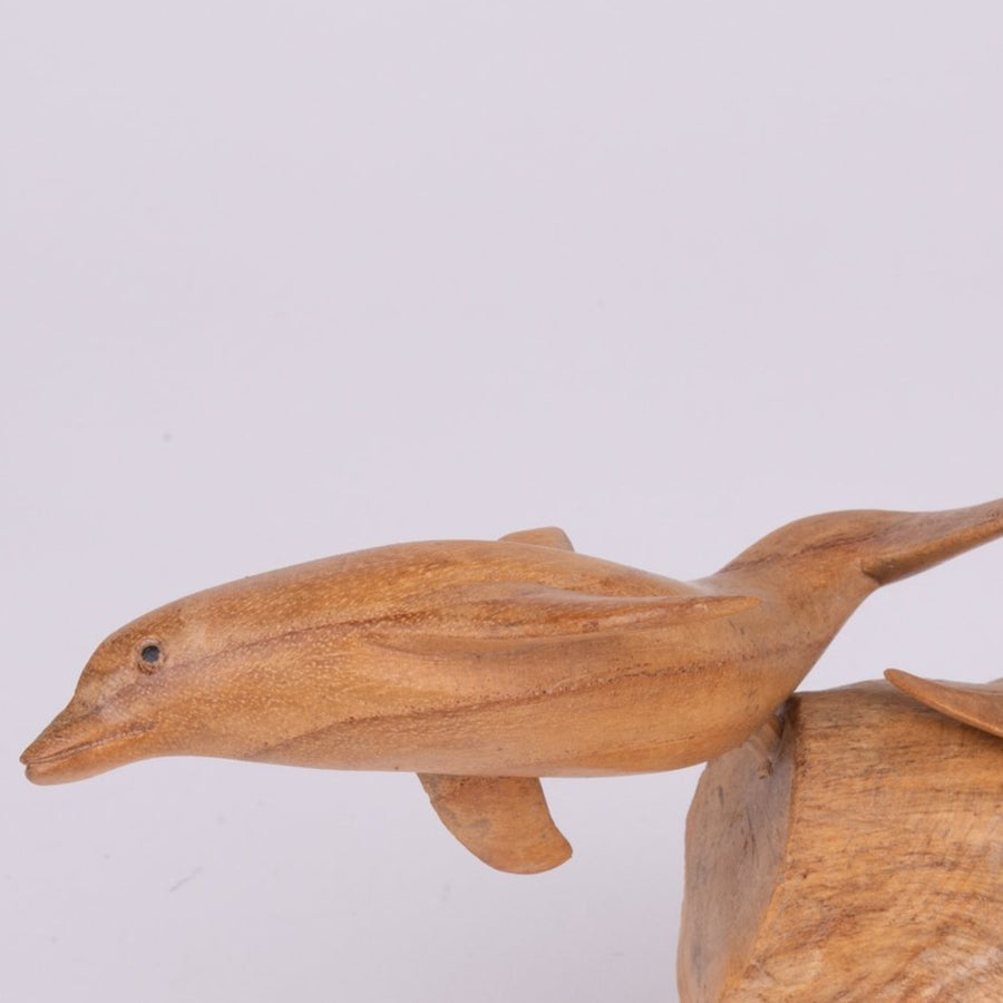 Parasite Wood Double Dolphin Carving