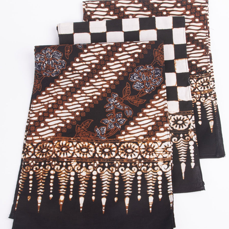 Three different batik motifs