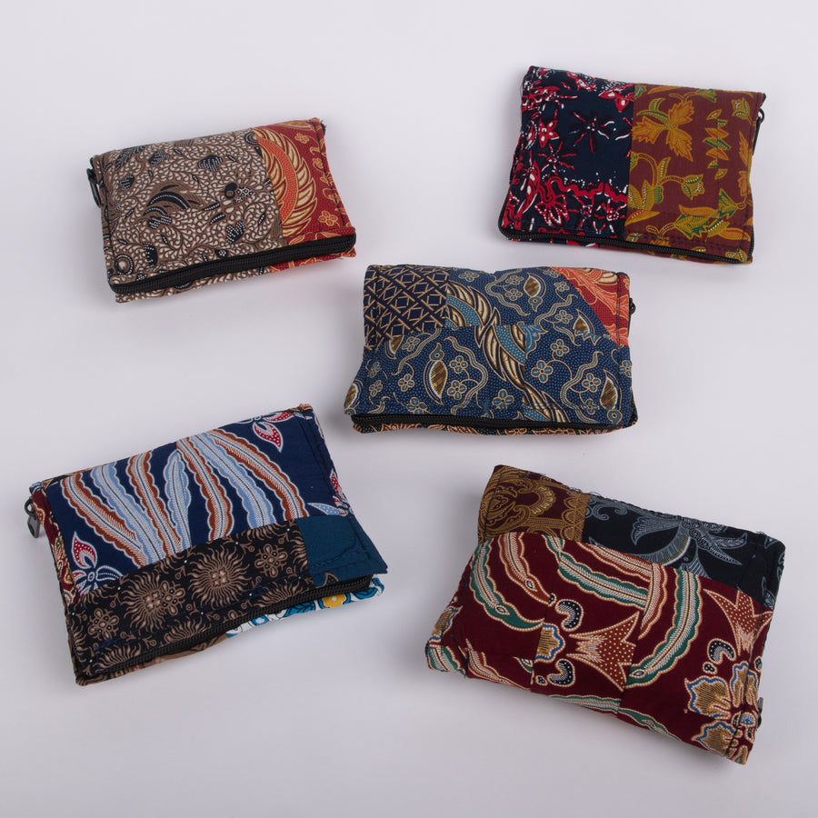 Reusable Batik Fold-Up Shopping Bags