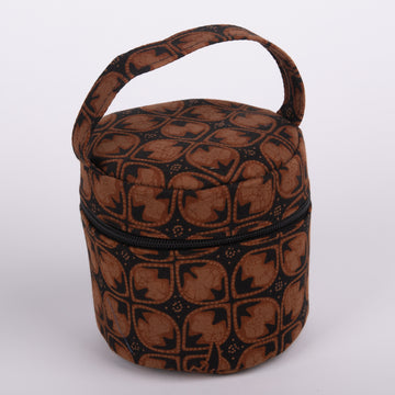 Batik Cloth Round Stand Up Bags