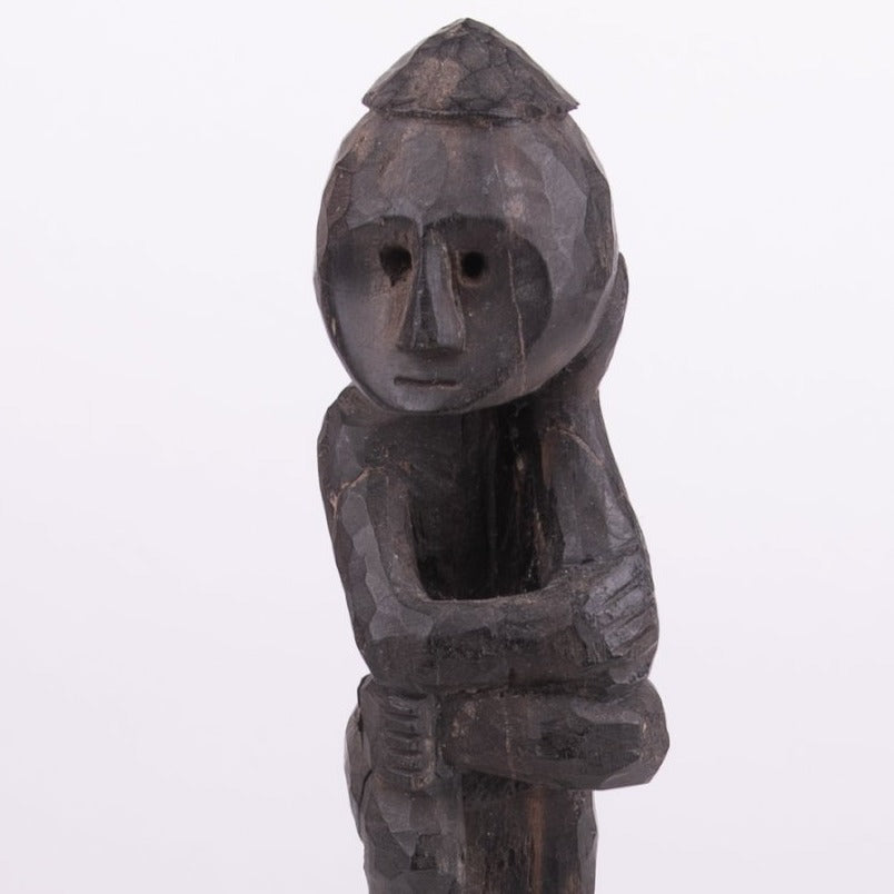 Primitive Thinking Man Carving Small