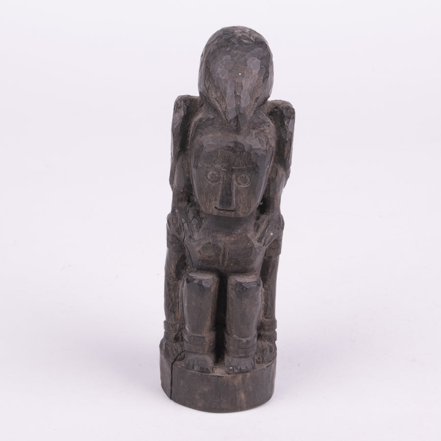 Primitive Tribal Man & Eagle Carving