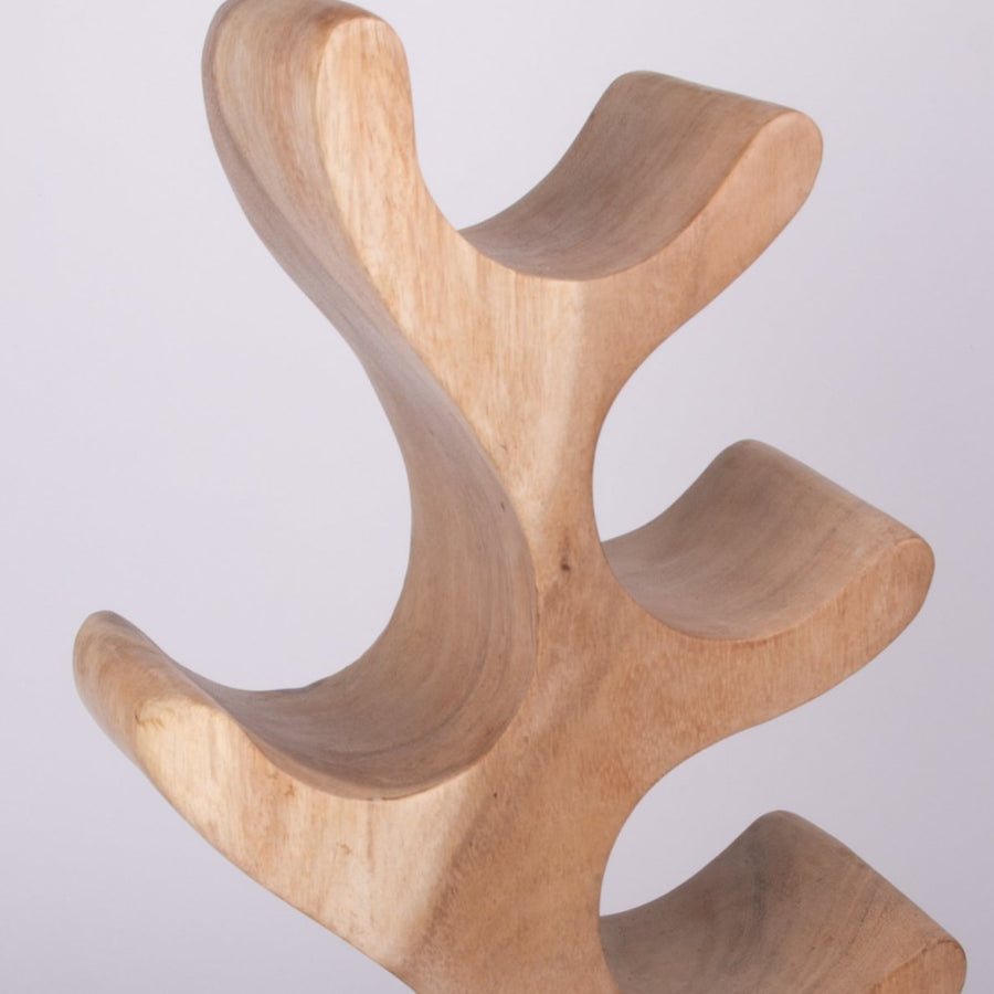 Abstract Wooden Wine Bottle Holder