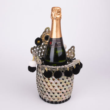 Chinese Coin Basket for a Wine Bottle