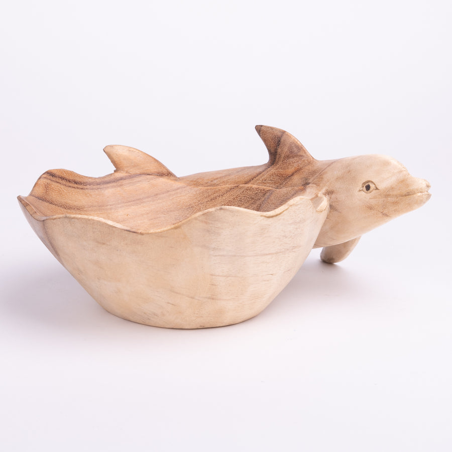 Wooden Dolphin Bowl