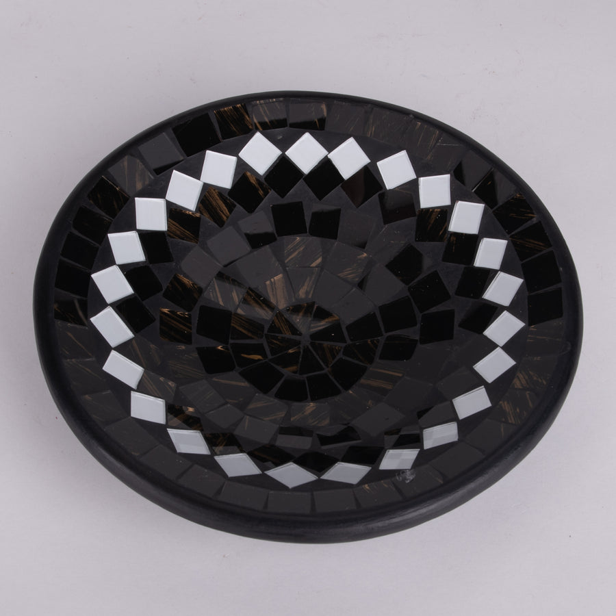 Mosaic Bowl in Dark & Mirrored Tiles