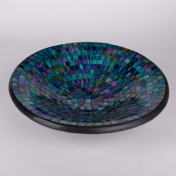 Mosaic Large Centerpiece Bowl in Colors of the Sea