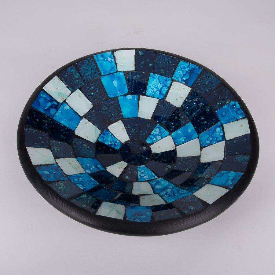 Mosaic Bowl in Colors of the Sea