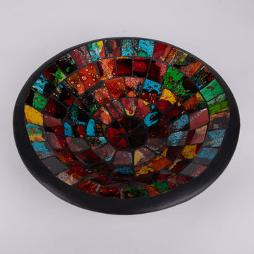 Mosaic Bowl with Rainbow Tiles