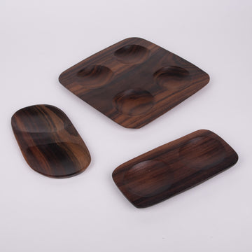 Sono Wood Dipping Sauce Plates
