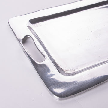 Small Alloy Silver Tray
