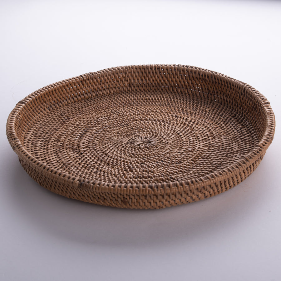 Circular Tray Handwoven Spiral - Medium