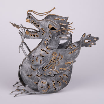 Dragon Hear Me Roar Silver Sculpture
