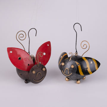 Cute Lady Bug & Bumble Bee Candle Holders