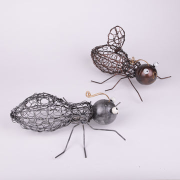 Metal Woven Wire Ant Creatures & Candle Holders