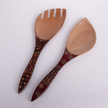 Batik Wooden Serving Utensils