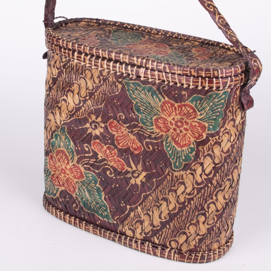Batik Rattan Fisherman's lunch box & Sewing Kit