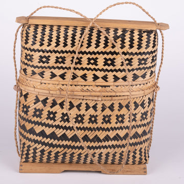 Woven Rattan Fisherman's lunch box