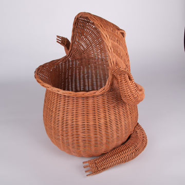 Wicker Frog Hamper Basket