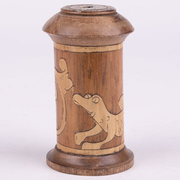 Batak Bamboo Medicine Canister Small