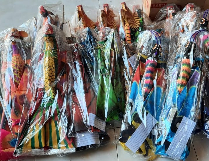 Kites ready for shipping