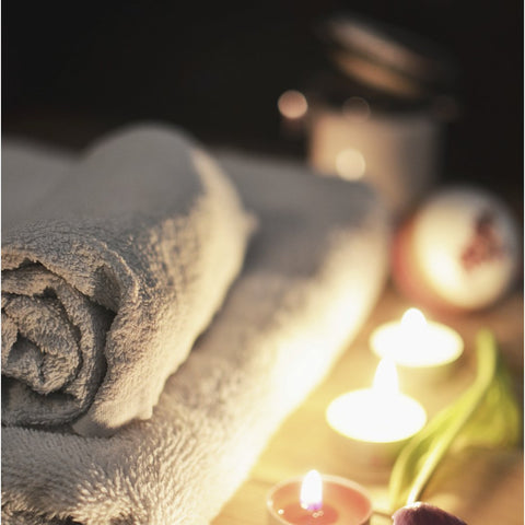 soft towels candles bath salts