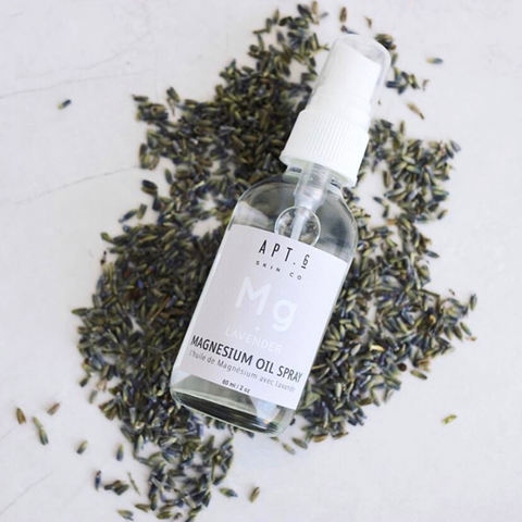 supplement your body's magnesium levels with lavender magnesium oil spray. Glass spray bottle 60 ml