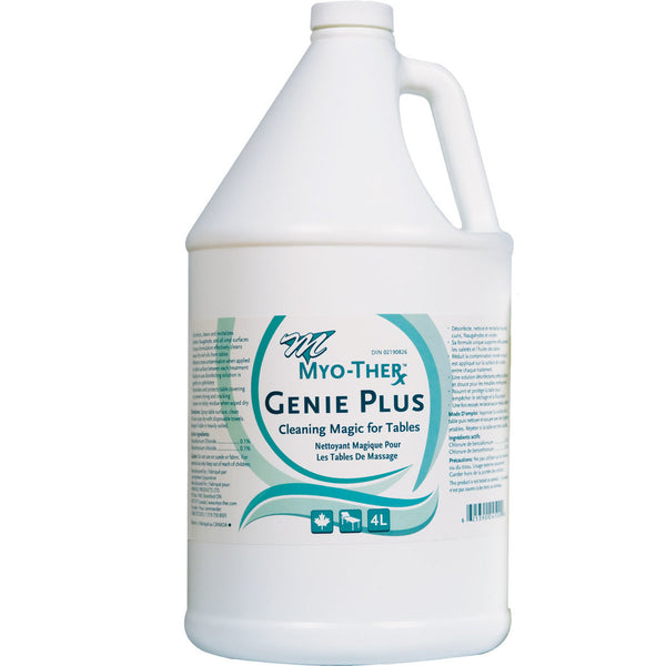 Genie Pus ready to use disinfectant for massage tables.