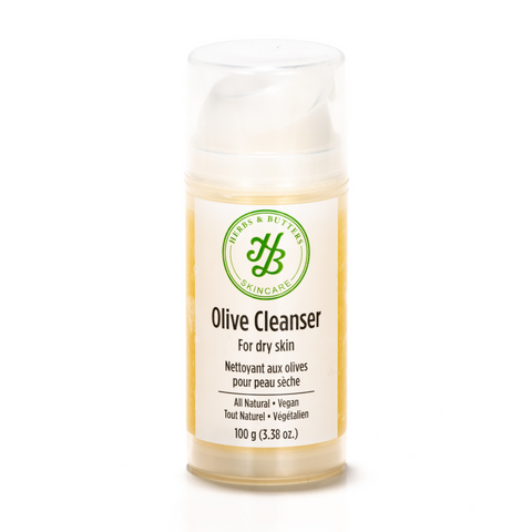 olive gel cleanser for dry skin