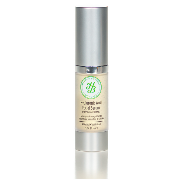 hydrating hyaluronic acid facial serum with shiitake extract