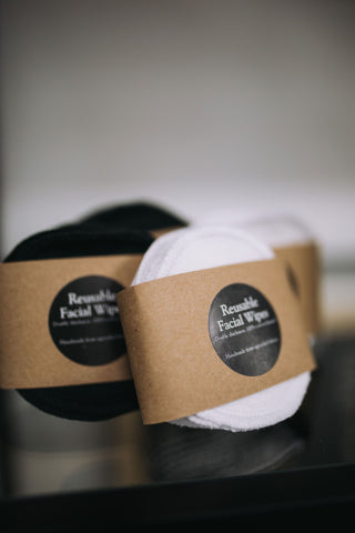 cotton facial wipes for makeup removal and facial cleansing