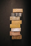 various types of bar soap made with natural ingredients