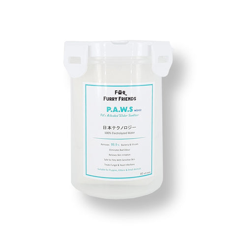Pet's Activated Water Sanitizer (P.A.W.S) Wipes