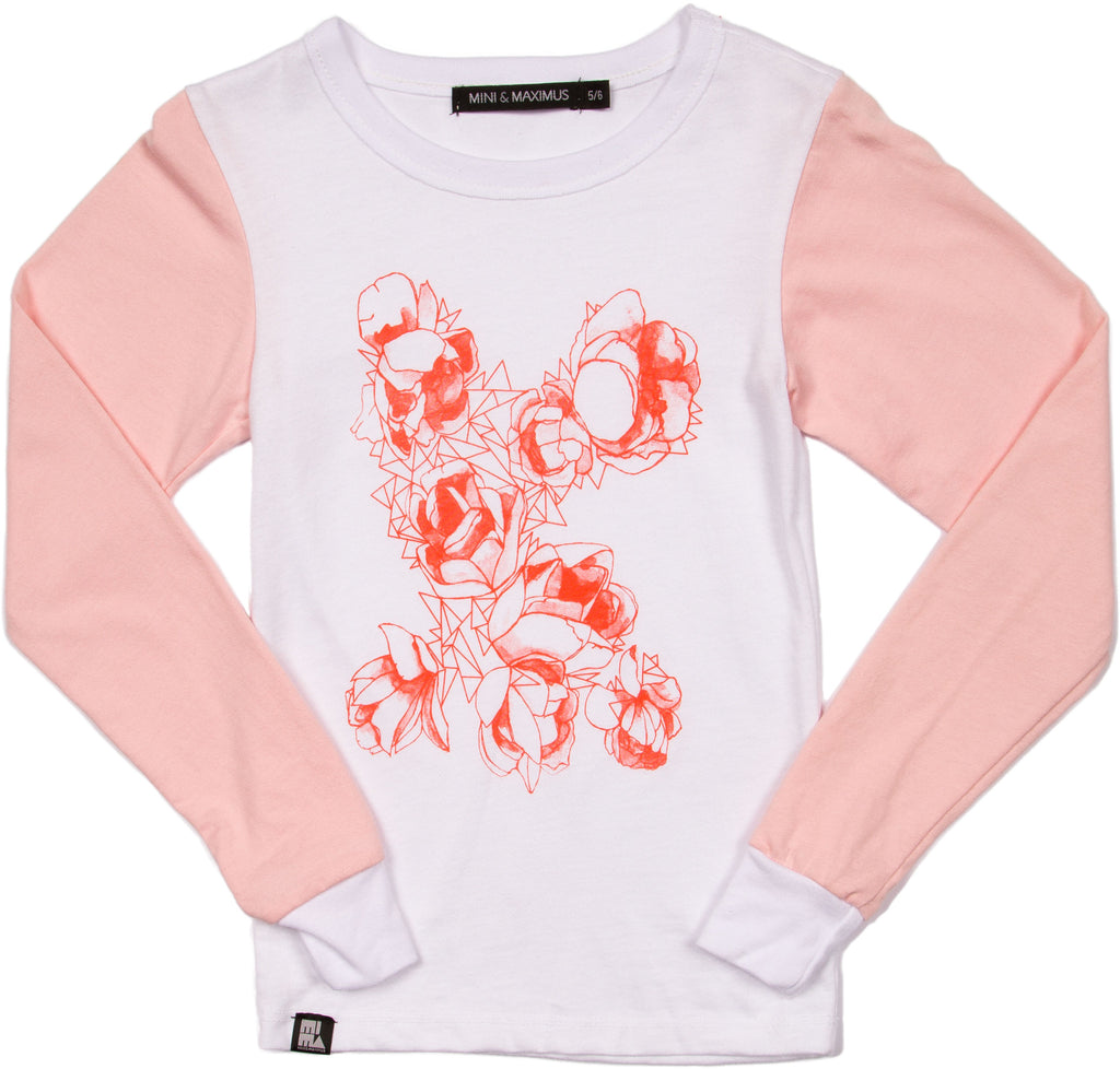 Like Roses L/S Tee by Mini and Maximus