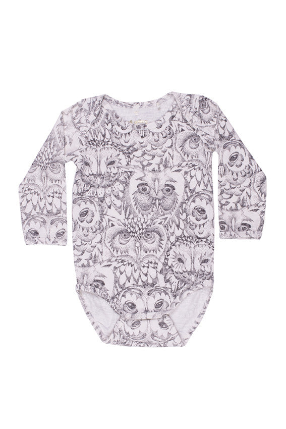 Bob Owl Bodysuit by Soft Gallery