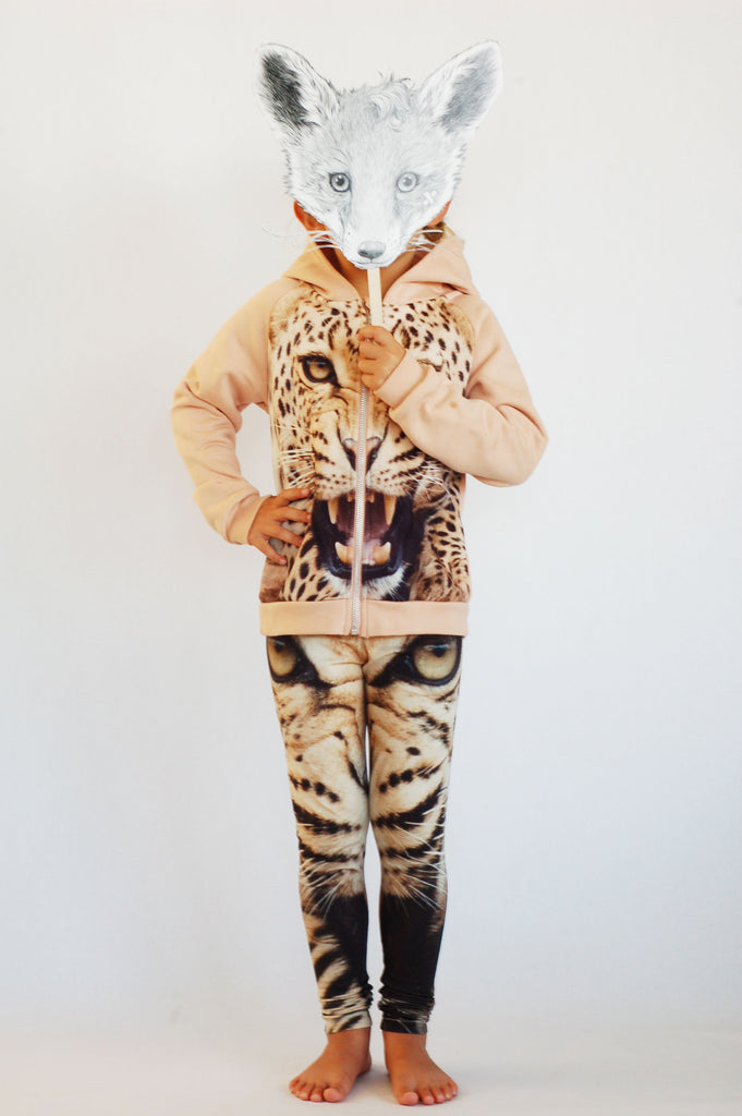 Leopard Hoodie with Zipper by Popup Shop