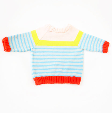Springy Multi Stripe Sweater by Degen - SALE ITEM
