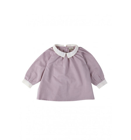 Collar Combined Blouse by yellowpelota