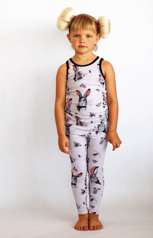 Ruffled Rabbit Leggings by Hebe
