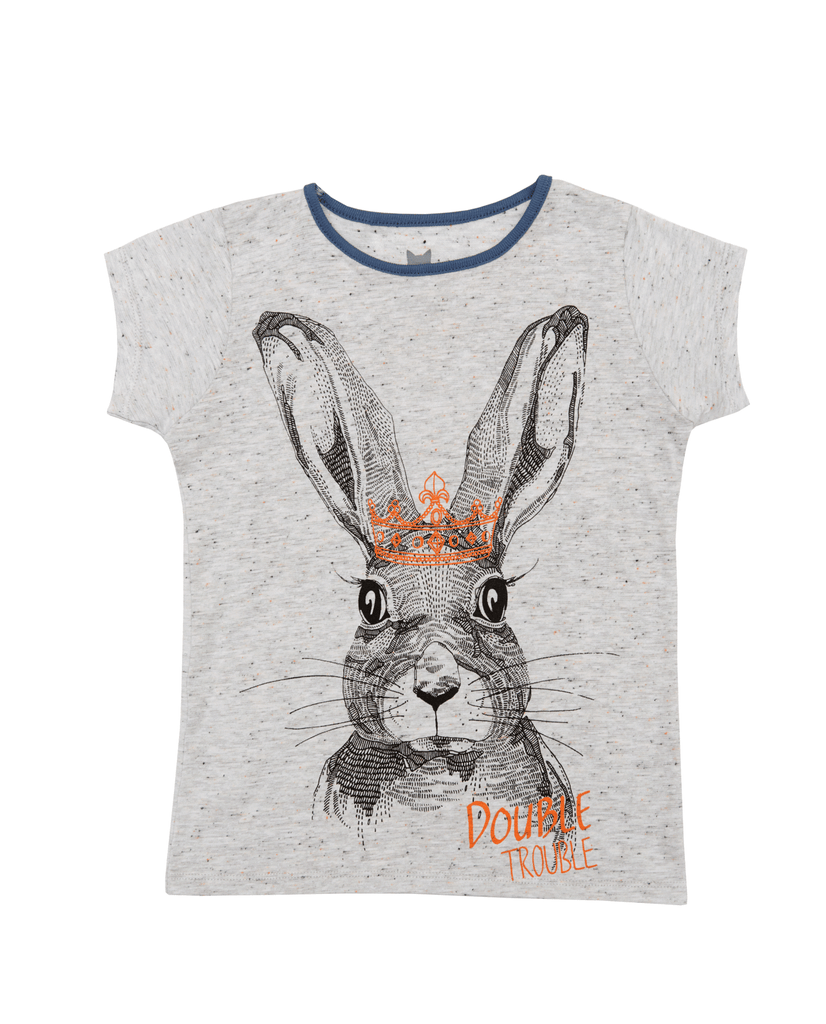 Grey Rabbit Tee by Hebe
