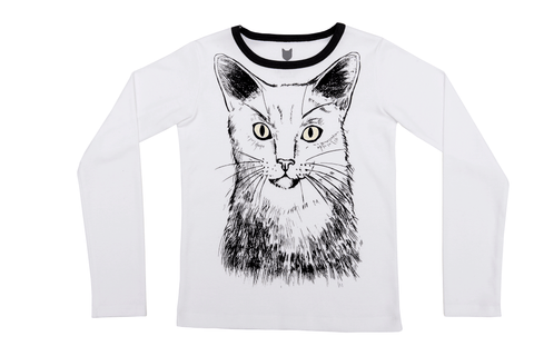 Glow in the Dark Cat Tee by Hebe