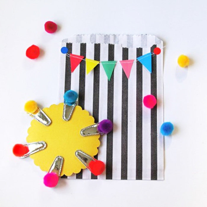 Rainbow Pom Pom Clips by Hello Shiso
