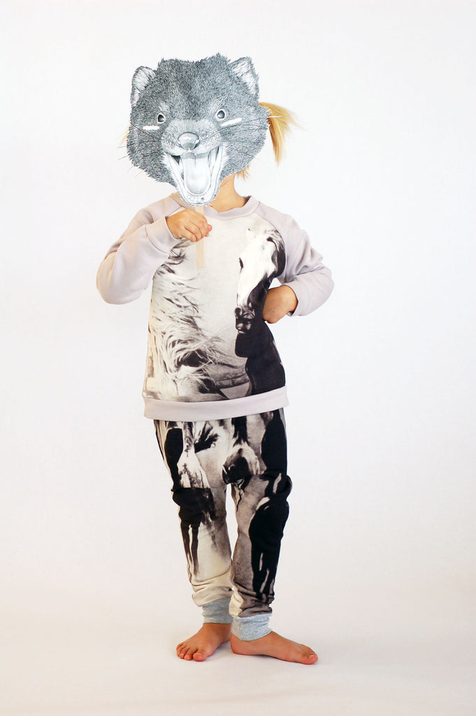 Horse Print Baggy Leggings by Popup Shop